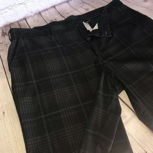 Men's plaid shorts, size 42 black,grey blue green